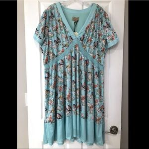 Lindy Bop Ariadne Blue Bird Blossom Dress